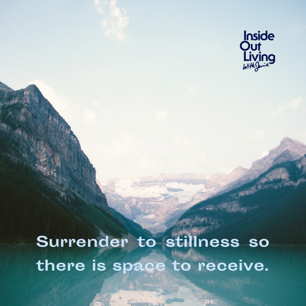 """""""Surrender to stillness so there is space to receive."""" - Jamie Sewell"""